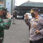 Komandan Kodim 0410 Sambut Kunjungan Kapolresta Bandar Lampung Dalam Rangka Coffee Morning