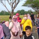 Pasar Nggruput Jalur Dua Komplek Pemkab Pringsewu Ramai Di kunjungi